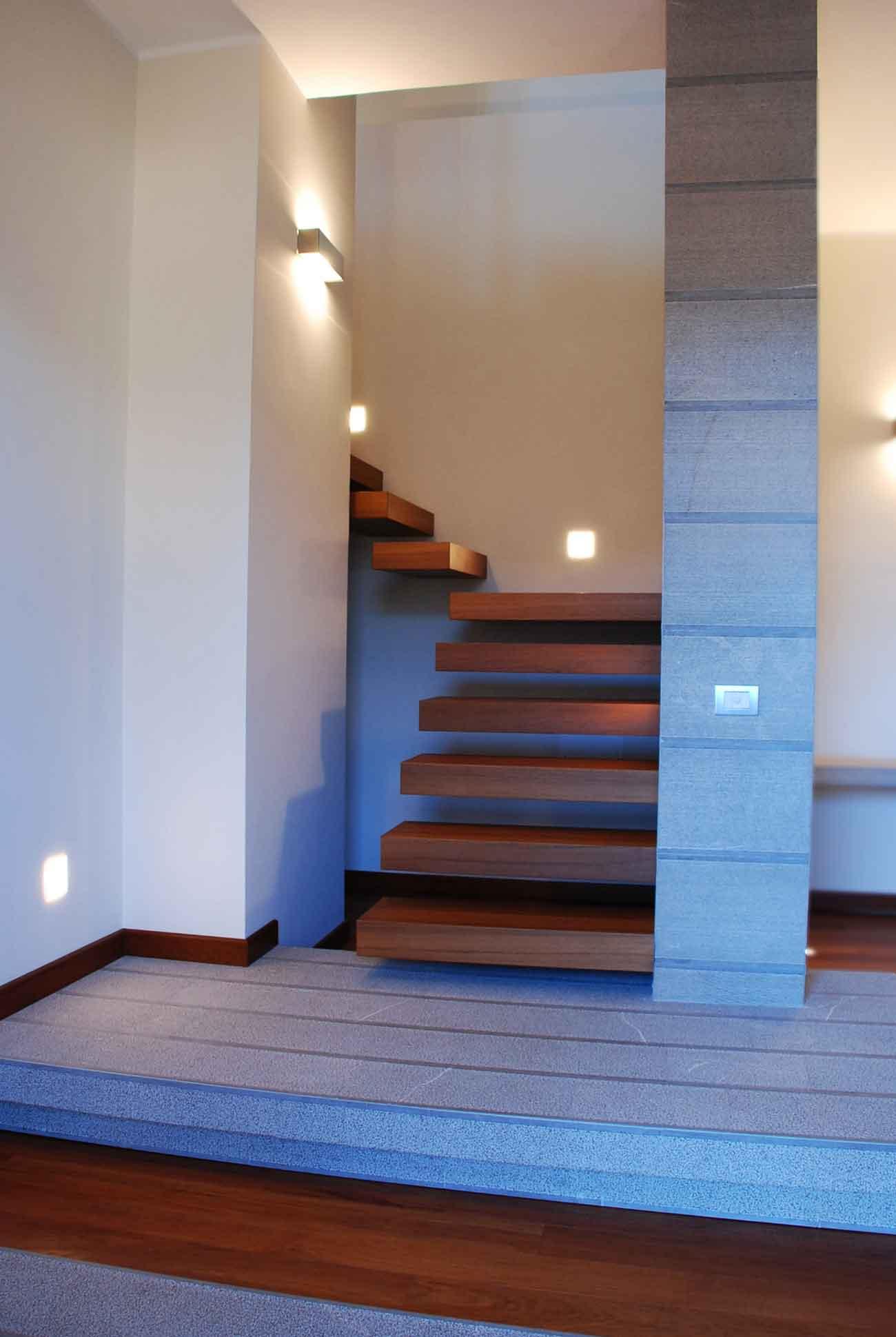 Naldi pavimenti, Allestimenti e pose, Una casa su più livelli