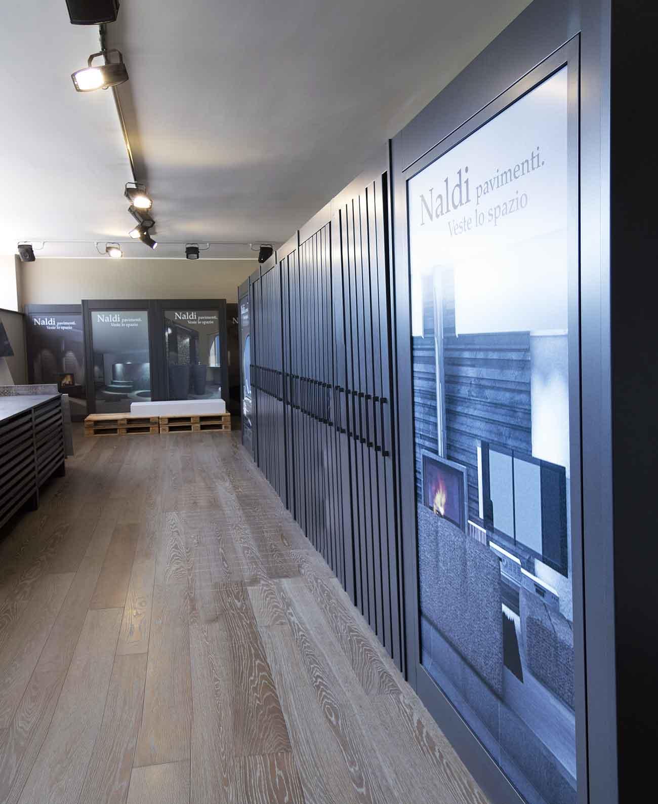 Naldi pavimenti, Showroom, Veste il tuo spazio