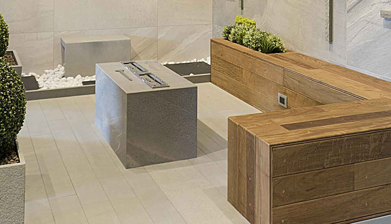 Naldi pavimenti, Showroom, Ambiente sauna