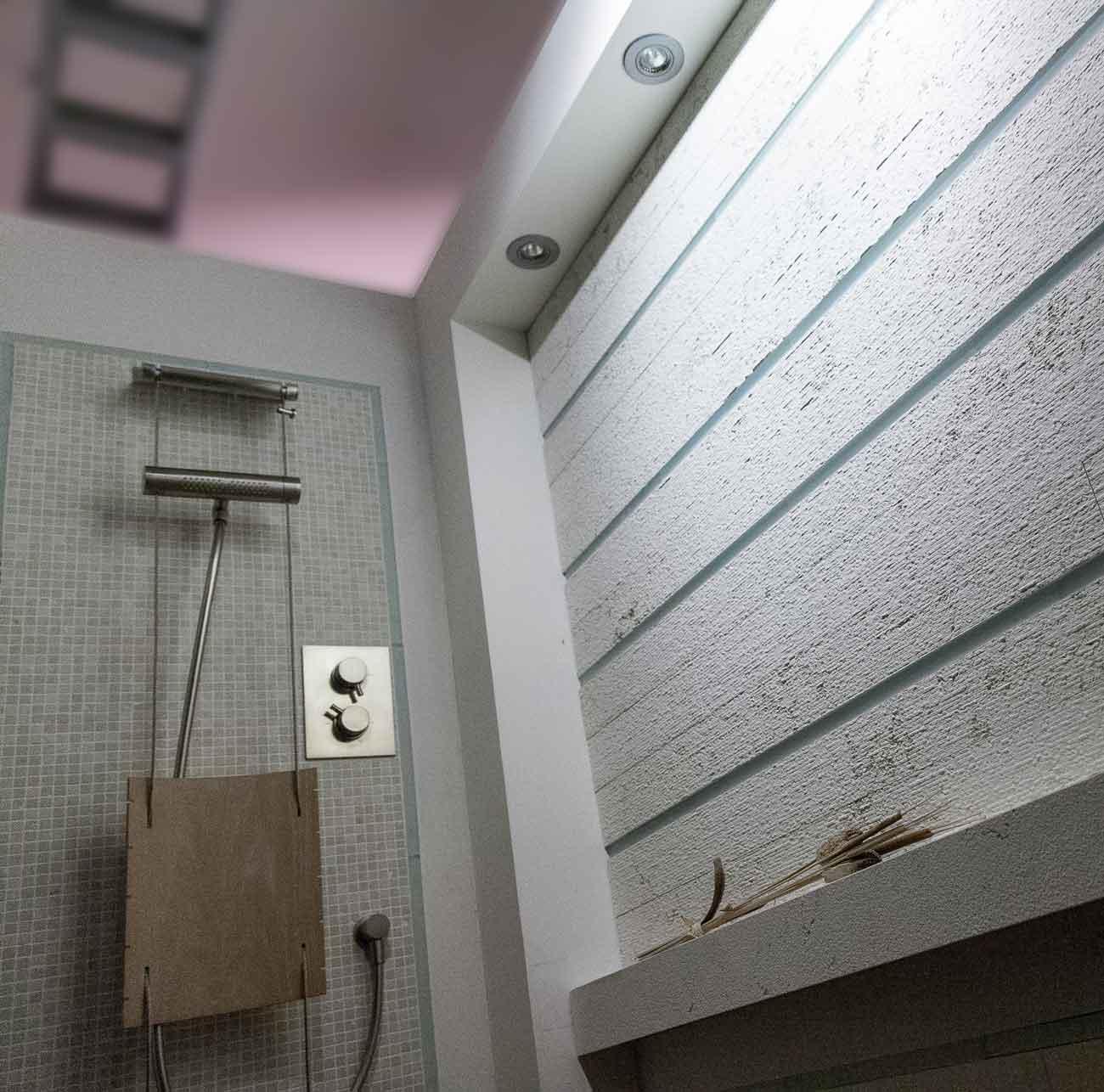 Naldi pavimenti, Showroom, Angolo doccia